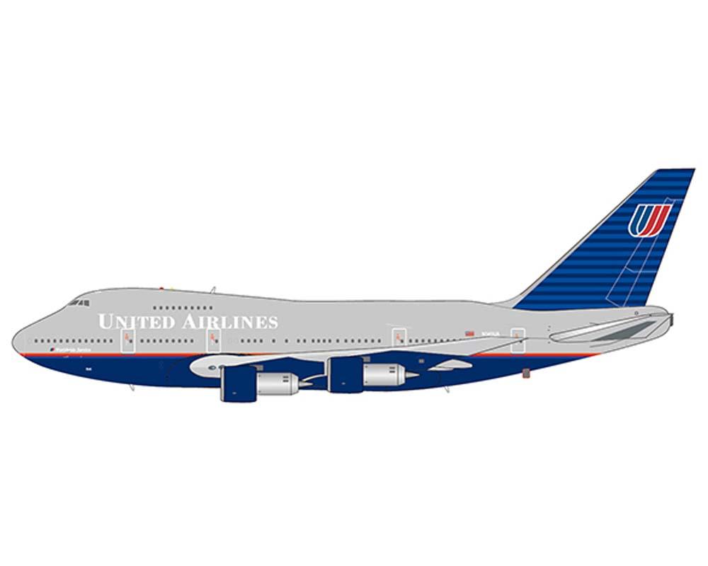 United Airlines B747SP (Battleship Gray Livery) N145UA (1:400)