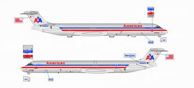 American Airlines Md 80 N442aa Polished Www Jetcollector Com